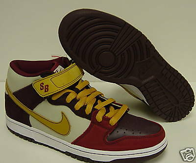 NIKE Mens DUNK MID PRO SB Burgundy Sneakers Shoes 8