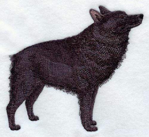 SCHIPPERKE Rare Dog Unique Find SET OF 2 HAND TOWELS EMBROIDERed By Laura $25.00