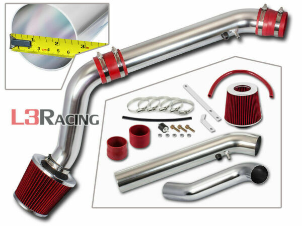 RED COLD AIR INTAKE SYSTEM + DRY FILTER FOR HONDA 96-98 CIVIC EX HX Si 1.6L VTEC