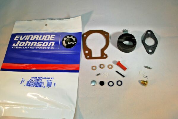New Johnson Evinrude OEM Outboard Carb Kit with Float 439070 BRP OMC Carburetor $19.99