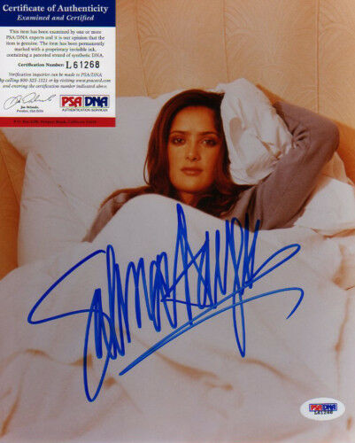 SALMA HAYEK SIGNED COLOR PHOTO GREAT ITEM PSADNA!!!!!!