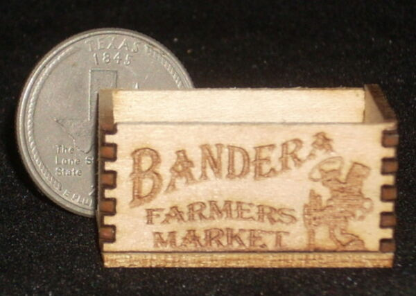 Dollhouse Miniature Bandera Farmers Market Produce Crate 1:12 Grocery Store
