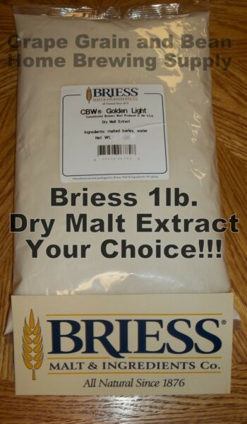 BRIESS 1lb. Dry Malt Extract Dry Malt Extract Malt Extract DME YOUR CHOICE!!