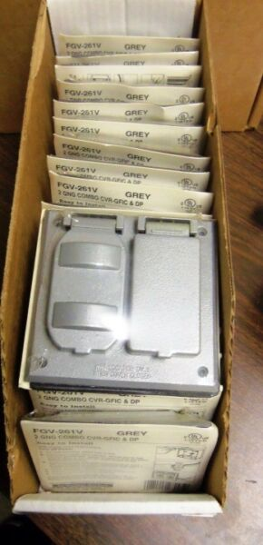 QTY 18 BWF OUTDOOR COVERS FGV 261V GREY 1 LOT 18 per lot NEW BOX $100.00