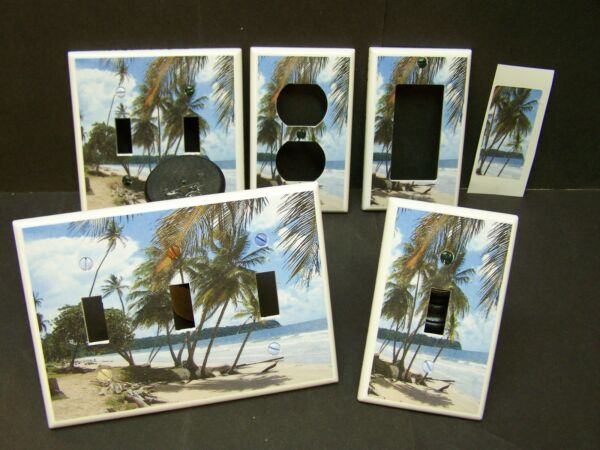 PALM TREE TROPICAL PARADISE BEACH  # 21 LIGHT SWITCH COVER PLATE OR OUTLET