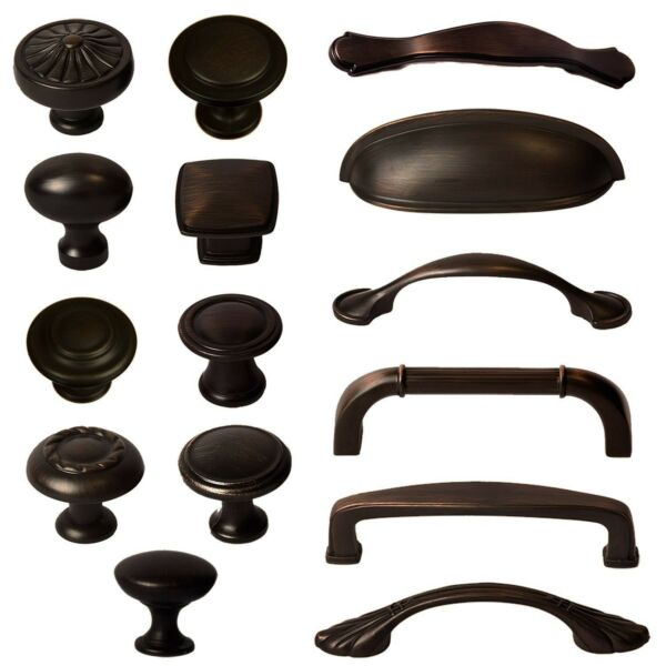 Cabinet Hardware Knobs Bin Cup Handles and Pulls - Oil Rubbed Bronze