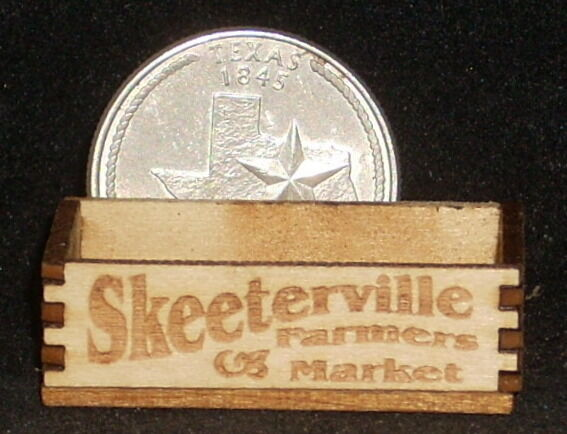 Dollhouse Miniature Skeeterville Farmers Market Crate 1:12 Texas Store Grocery