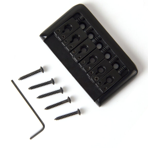 Hardtail Hard Tail Fixed Guitar Bridge for 6 String Electric Parts Black $12.99