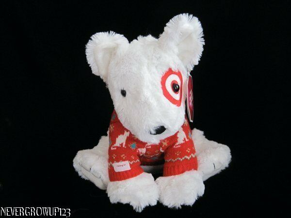 2012 COLLECTIBLE TARGET BULLSEYE DOG ST JUDE STUFFED PLUSH RED SWEATER NWT $49.91