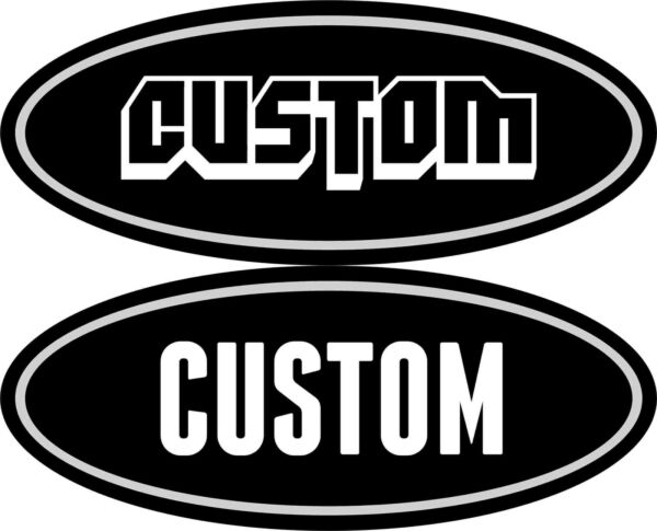 2 Custom 04-11 Ford Peterbilt Decals Emblems f250 f 350