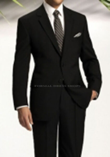 BUSINESS MEN'S BLACK SUIT OFFICE FUNERAL FORMAL PROM DANCE MARINE CORPS BANQUET