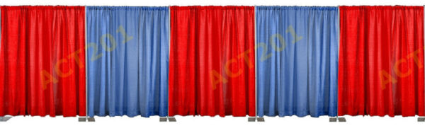 8 FT HIGH x 50 FT WIDE PIPE AND DRAPE KIT (WITH PREMIUM DRAPES) - PIPE