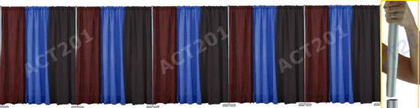10 FT HIGH x 50 FT WIDE PIPE AND DRAPE KIT (WITH PREMIUM DRAPES) - PIPE