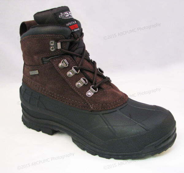 Brand New Men#x27;s Winter Boots Leather 6quot; Insulated Waterproof Hiking Snow Shoes