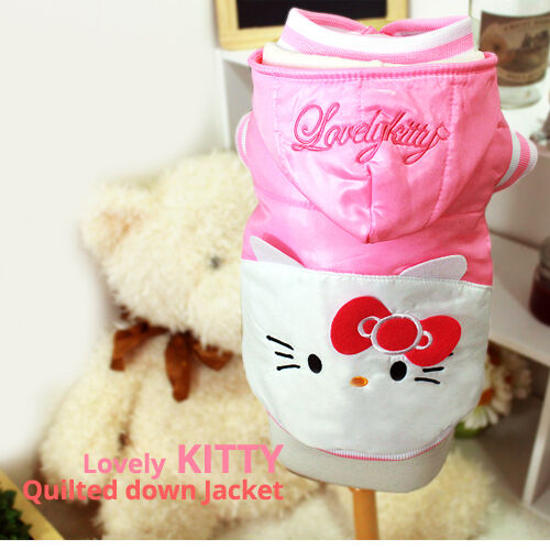 Luxury Pet Apparel HelloKitty Winter Clothes Pink Small XLarge Shirt Hoodie Dog $26.95