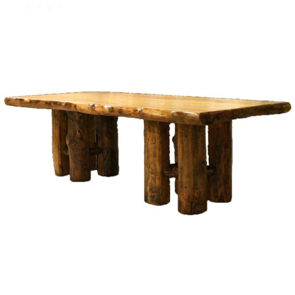 Log Stump Table - Country Western Rustic Cabin Wood Kitchen Furniture Decor