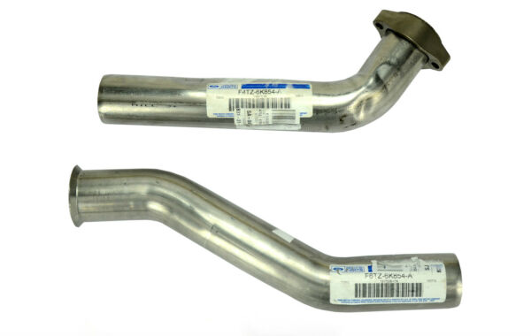 NEW OEM 1994-1997 Ford 7.3L Diesel Turbo Exhaust Up Pipes, Left Right Gaskets