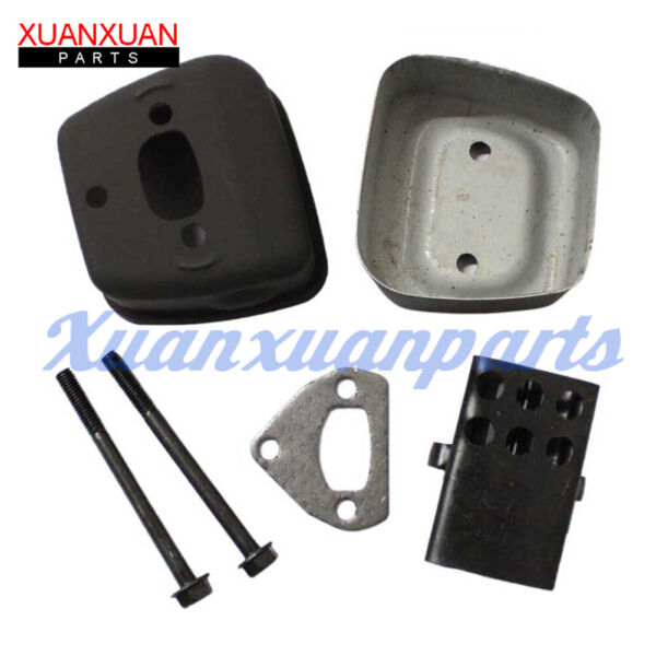 Exhaust Muffler Gasket Bolts Kit For Husqvarna 142 Chainsaw Replaces 545006044