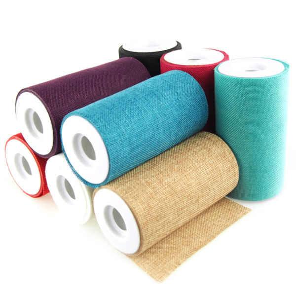 Faux Burlap Rolls Frayed Edge 6 Inch 10 Yards