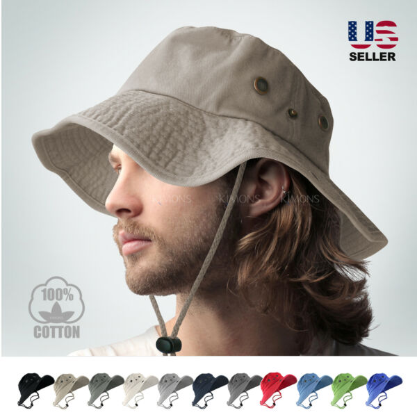 BOONIE BUCKET HAT MILITARY FISHING CAMPING HUNTING WIDE BRIM BUCKET MEN OUTDOOR $12.95