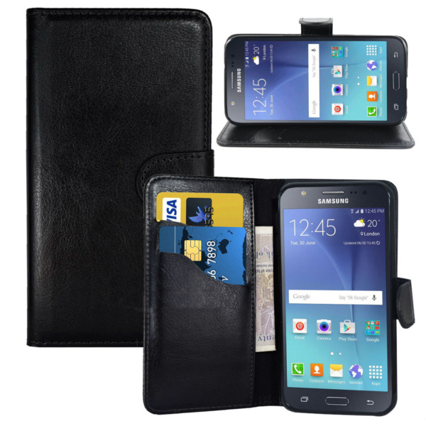 Black Wallets Case Cover with Card Slots and clip for Samsung Galaxy J6 2018 UK GBP 2.99