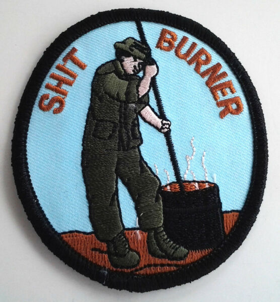$HIT BURNER 3 3 16quot; Military Vietnam Veteran Patch PM0269 EE