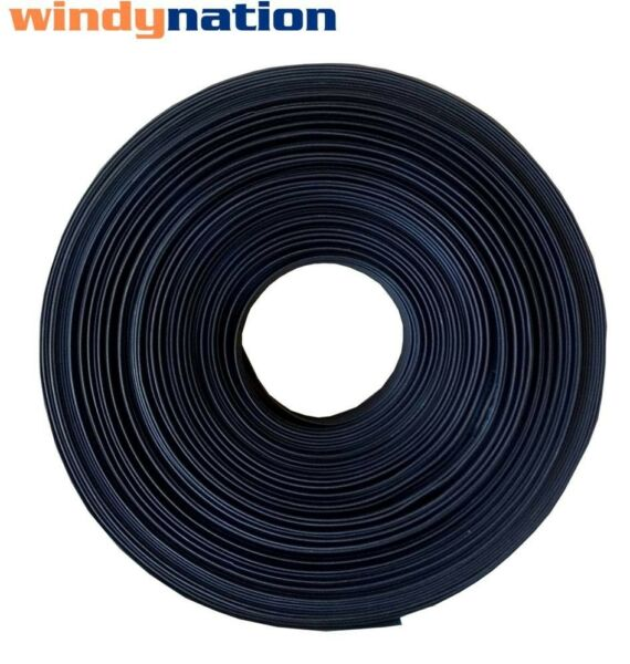 1 Inch 1quot; Polyolefin 2:1 Heat Shrink Tubing 100 FT 100#x27; Feet BLACK $36.99