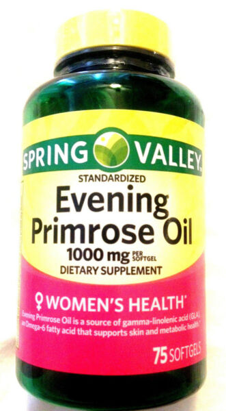 Spring Valley Women's Health Evening Primrose Oil GLA 75 Pills Softgels 1000mg