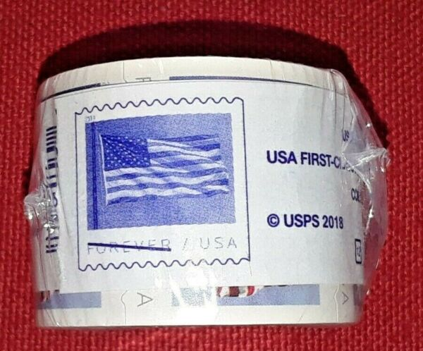 New One (1) Roll /Coil of 2017 US FLAG FOREVER BCA 100 Postage Stamps  FV $50.00