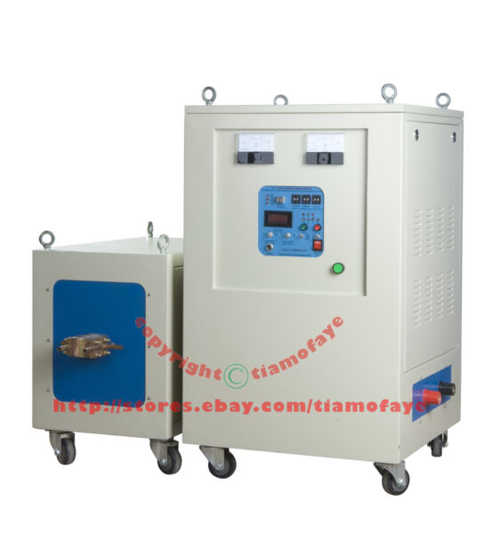 60KW 20-50KHz Dual Station Super Audio Frequency Induction Heater Melter Furnace