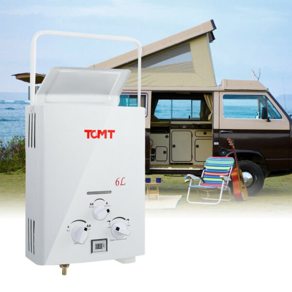 Portable LPG Propane Gas 6L Hot Water Heater Tankless Instant Boiler Outdoor RV $299.98
