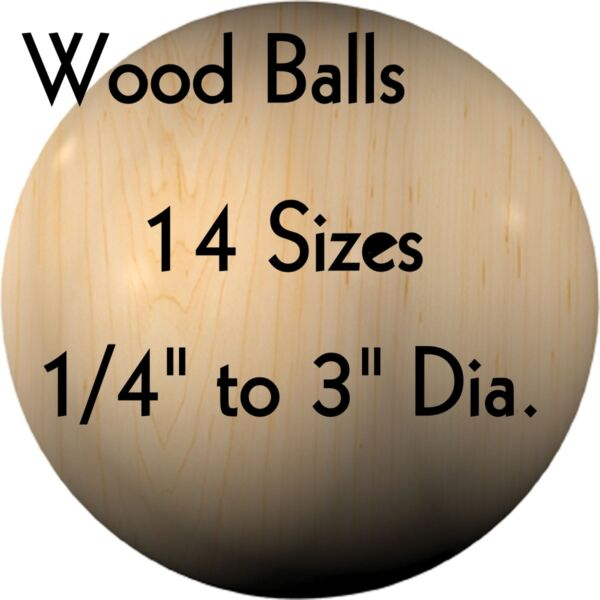WOOD BALLS { Hardwood ~ USA Made } 14
