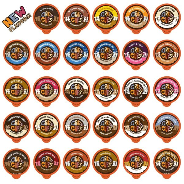 Crazy Cups Flavored Coffee Single Serve cupsK Cup Variety Pack Sampler40-Count