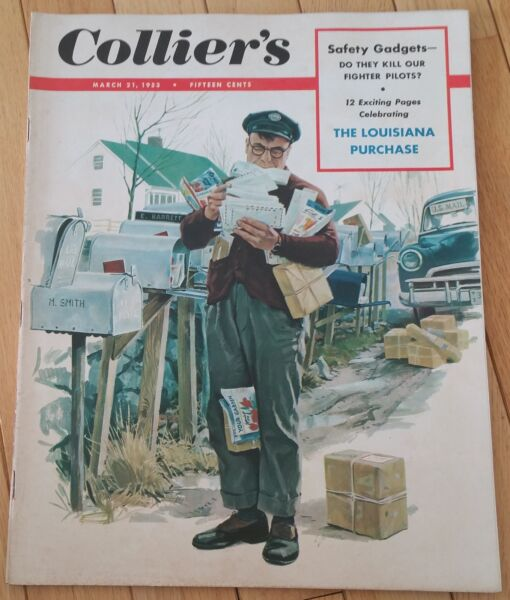 COLLIERS MAGAZINE MARCH 21 1953 SAFETY GADGETS FIGHTER PILOTS LOUISIANA PURCHASE