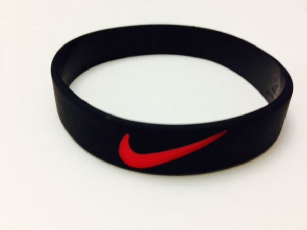 Nike Sports baller silicone wristband. blk/red logo - Buy 3 Get 2 Free !
