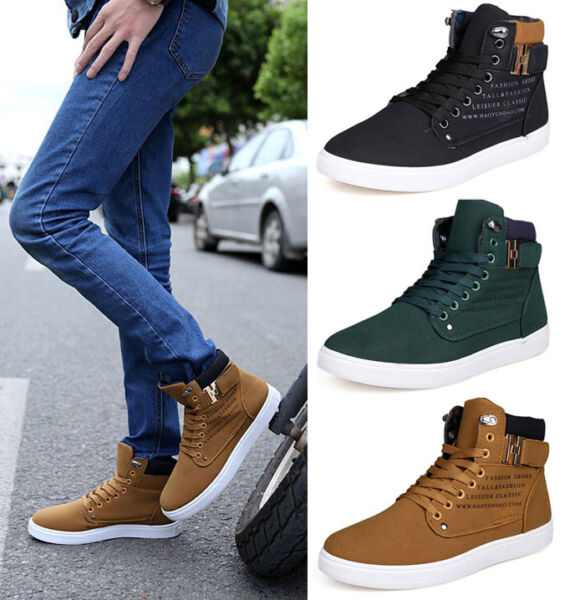 Hot Cheap Men Dunk High Grind Sand Slip On Warm Leisure Shoes Canvas Sneakers