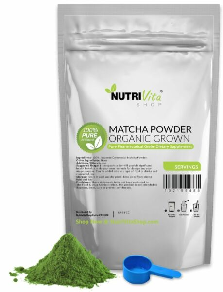 250g (8.8oz) 100% Pure Matcha Green Tea Powder Organically Grown Japanese nonGMO