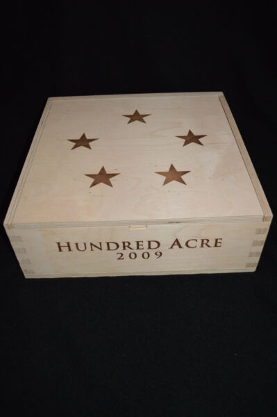 HUNDRED ACRE Wine Crate with Lid NAPA VALLEY California