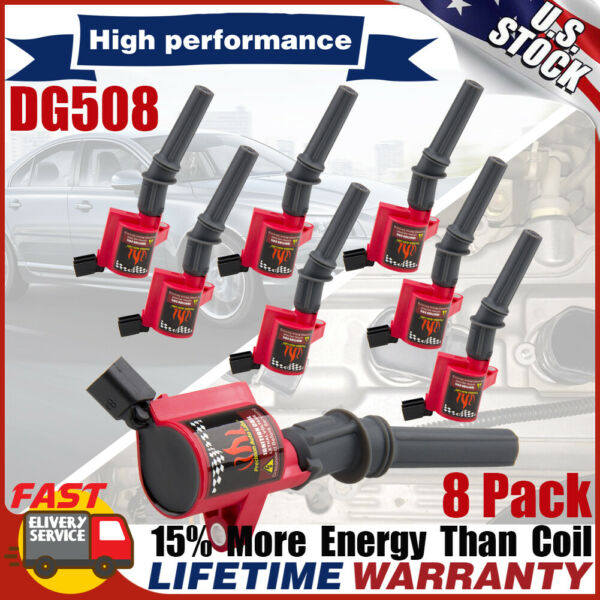 High Energy Ignition Coil Pack For Ford F150 F250 F550 4.6/5.4L DG508 V8 Lincoln