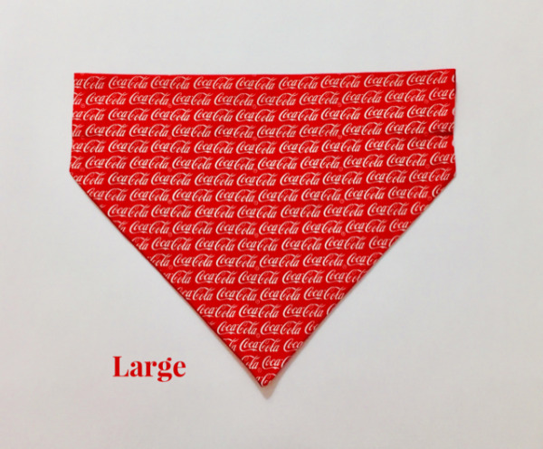 Coke Coca Cola Soda Pop Over Collar Slide On Pet Dog Cat Bandana Scarf $8.00