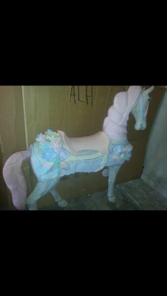 wooden carousel horse full size painted