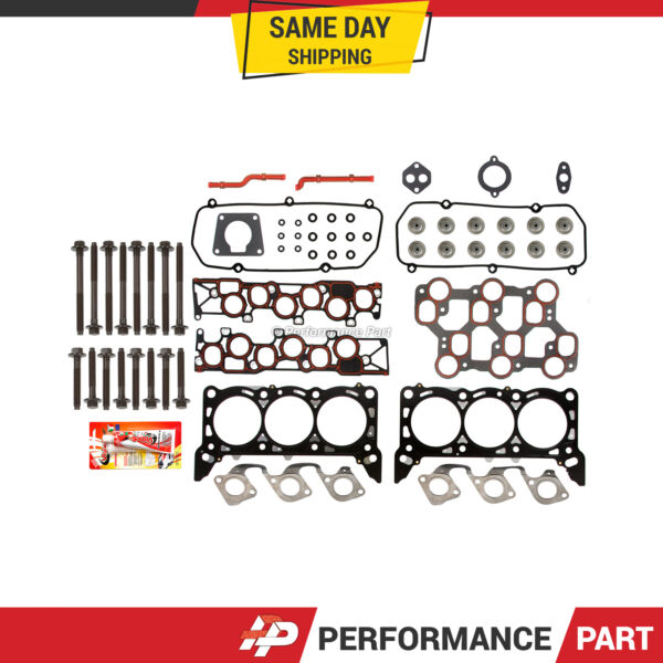 Head Gasket Bolts Set for 01151998-04 Ford Mustang F150 3.8 4.2 OHV VIN 2 4 6