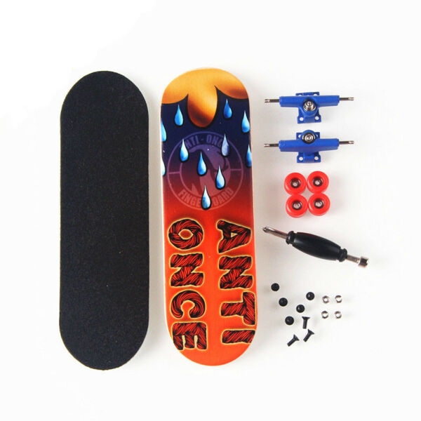 Blue Basic Canadian Wood Complete Fingerboard -Box with Bearings and Nuts CM16