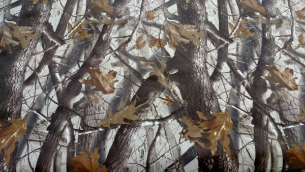 Camo Fabric Realtree Hardwoods Flocked Velvet Sueded Upholstery 54quot; W Camo BTY