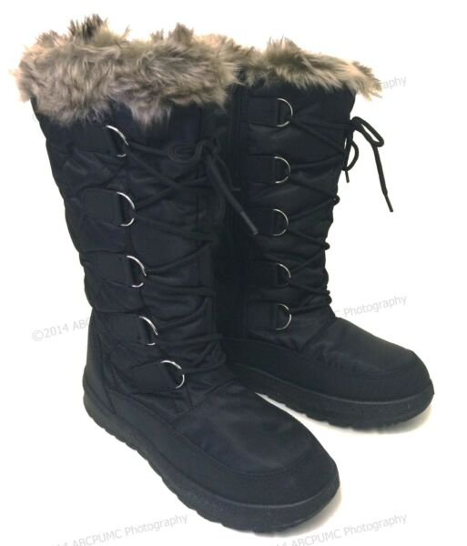 Brand New Womens Winter Boots Snow Fur Warm Insulated Waterproof Zipper Ski Shoe