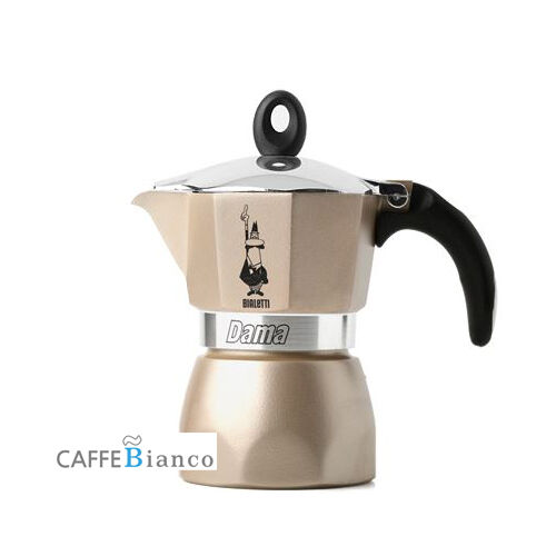 Bialetti Moka Express Stovetop Espresso Maker Pot Coffee Latte Gold 3 CUP