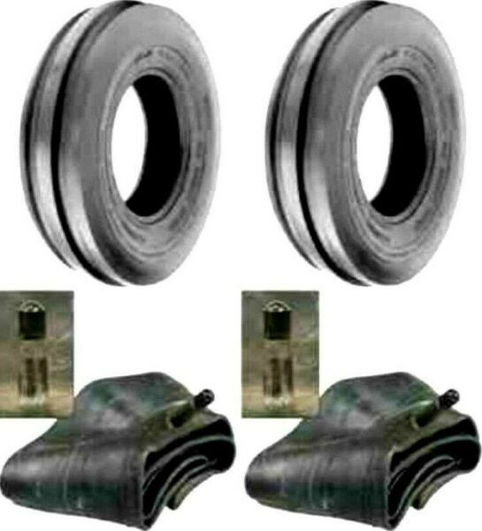 TWO New 5.50 16 Tri Rib 3 Rib Front Tractor Tires amp; Tubes 6 Ply Rated Heavy Duty