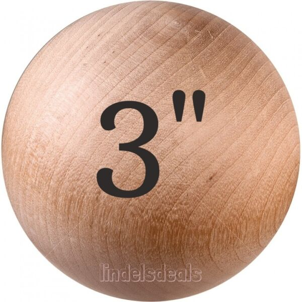 3 INCH Wood Ball Unfinished Solid Hardwood  BUY 3 BALLS AND GET 1 FREE.