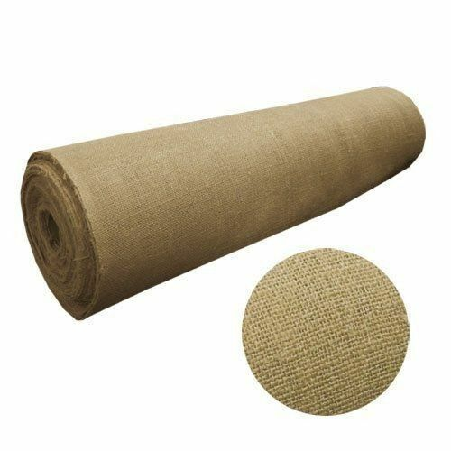 5 Yards Burlap Fabric 40quot; Wide 100% Natural Jute Heavy Upholstery 15 FEET