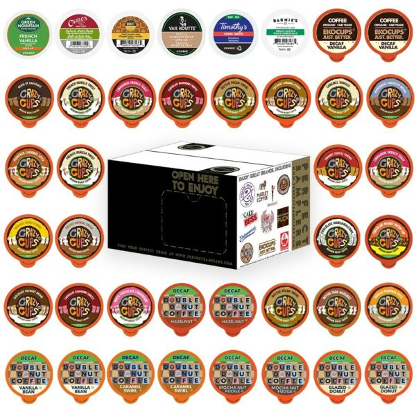 Decaf Flavored coffee Single Serve cups k cups variety pack Sampler 40 count